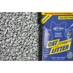 Pettex Premium Grey Cat Litter Granules 20kg