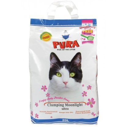 Pura Moonlight Ultra Clumping Cat Litter Baby Powder 20ltr