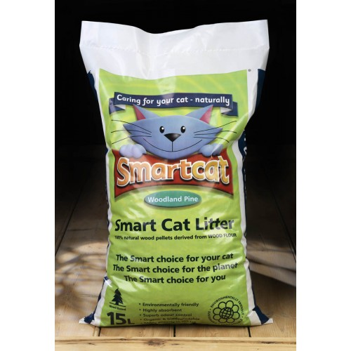 Smart Cat Wood Based Litter 15 Litre