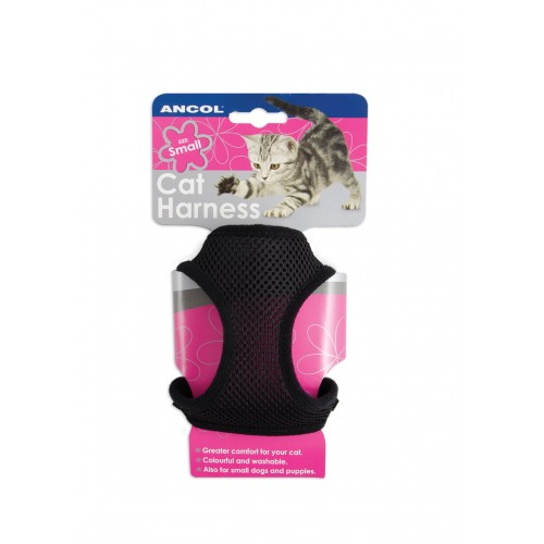 Soft Harness & Lead Black Med