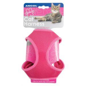 Soft Harness & Lead Pink Lge
