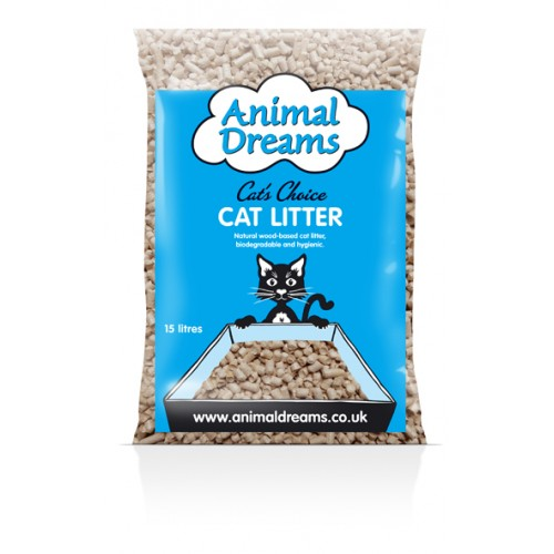 Animal Dreams Cat's Choice Woodbase Cat Litter 5ltr