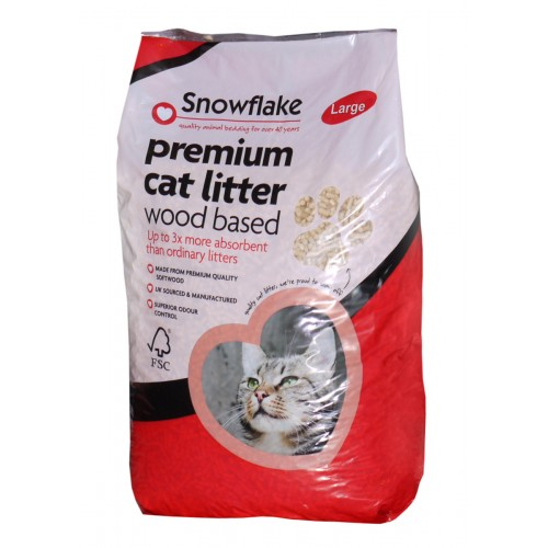 Snowflake Premium Wood Based Cat Litter – 15ltr