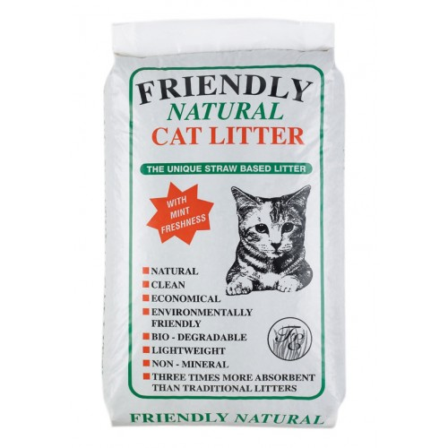 Friendly Natural Straw Based Cat Litter 20kg