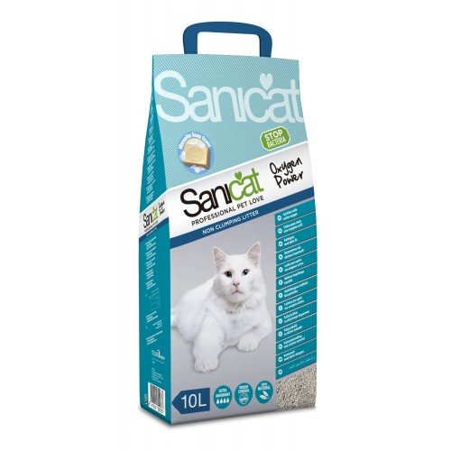 Sanicat Oxygen Power Clean Non-clumping Cat Litter 10ltr