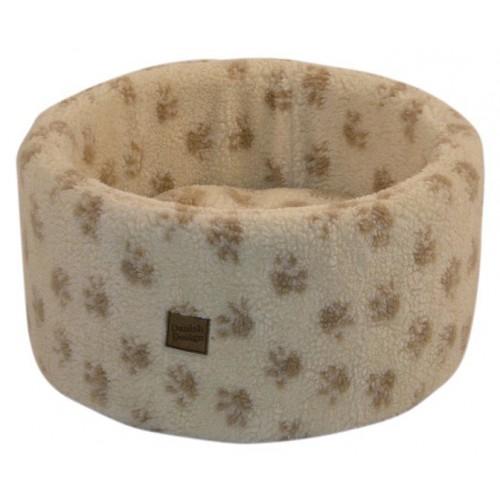 Cat Cosy Fleece Bed Cream Medium 50cm