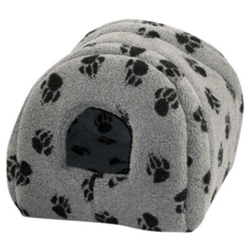 Cat Igloo Sherpa Fleece Grey 41x41cm