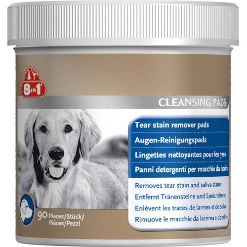 8in1 Dog Tear Stain Remover Pads 90pk