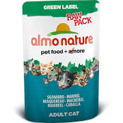 Almo Nature Green Label Cat Raw Pack Mackerel 55g