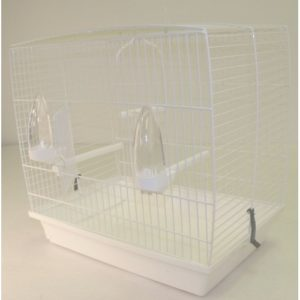 Andalusian Bird Cage White 42.5x25x40cm