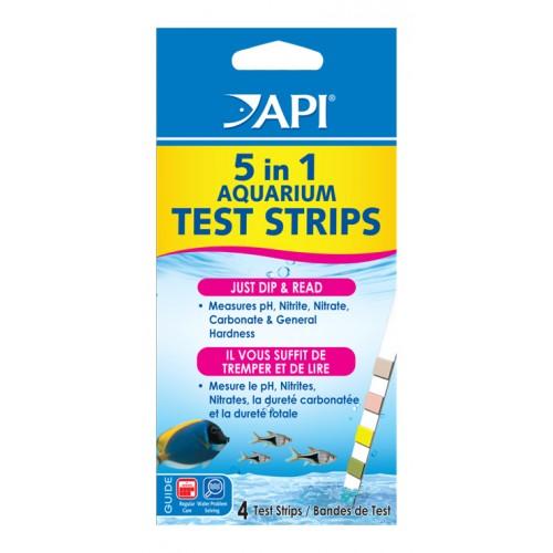 Api 5-in-1 Aquarium Test Strips 4pk