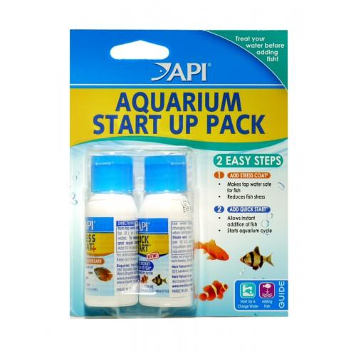 Api Aquarium Start Up Pack Stress Coat & Quick Start 30ml