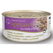 Applaws Cat Can Mackerel With Seabream In Jelly 70g