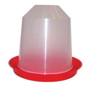 Aviary Drinker Red/transparent 6 Litre 24.5x29cm