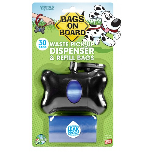 Bags On Board Bone Dispenser Black With 30 Bags