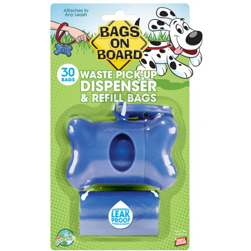 Bags On Board Bone Dispenser Blue With 30 Bags