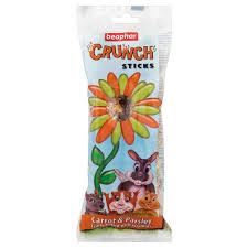 Beaphar Small Animal Crunch Sticks Carrot & Parsley 2pk