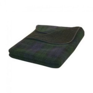 Blackwatch Tartan Fleece Blanket Medium 76x127cm