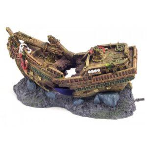 Blue Ribbon Ornament Shipwreck Bubbler 26 X12 X13cm
