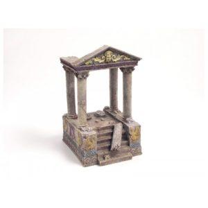 Blue Ribbon Ornament Temple Ruins & Steps 11 X13 X20cm