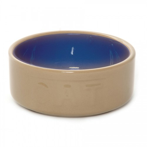 Bluecane Lettered Cat Bowl 13cm