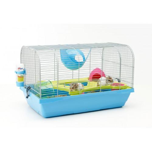 Bristol Hamster Cage Silver/blue 59x38x37cm