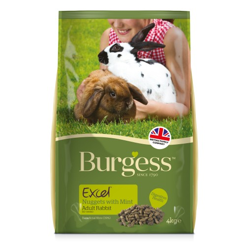 Burgess Excel Rabbit Nuggets Adult 10kg