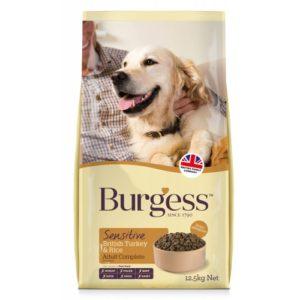 Burgess Sensitive Dog Adult Complete Turkey & Rice 12.5kg