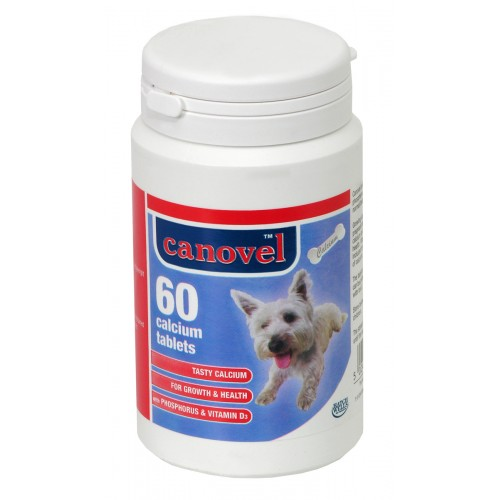 Canovel Dog & Cat Calcium 60 Tablets