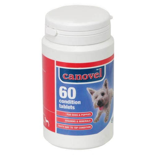Canovel Dog & Puppy Condition Vitamin 60 Tablets