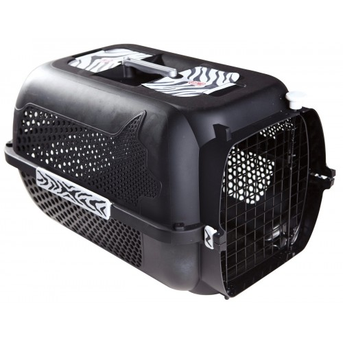 Catit Voyageur Tiger Design Black Small 48x32x28cm
