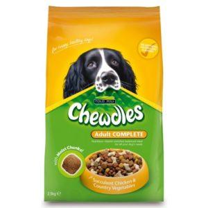 Chewdles Complete Dog Adult Semi-moist Chicken & Veg 2.5kg
