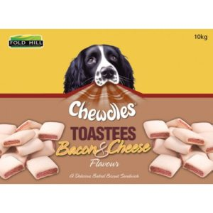 Chewdles Toastees Bacon & Cheese 10kg