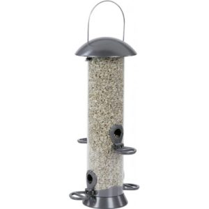 Cj Adventurer Metal Seed Feeder Gunmetal 4 Port Medium 40cm