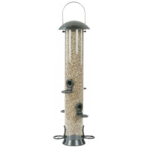 Cj Adventurer Metal Seed Feeder Gunmetal 6 Port Large 55cm