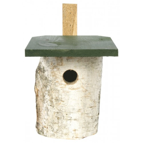 Cj Birch Log Nest Box 32mm Hole (fsc)