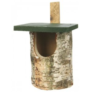 Cj Birch Log Nest Box Open Front (fsc)