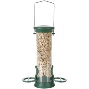 Cj Challenger Plastic Seed Feeder Green 2 Port Small 20cm