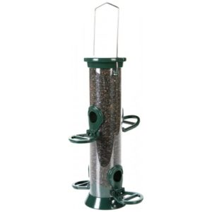 Cj Defender Metal Nyjer Feeder Green 4 Port Small 20cm