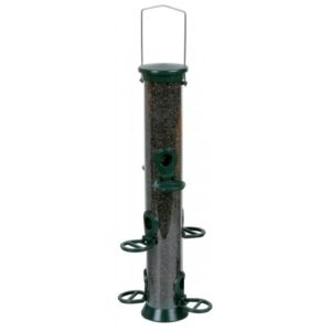 Cj Defender Metal Nyjer Feeder Green 6 Port Medium 35cm