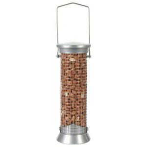 Cj Defender Metal Peanut Feeder Silver Small 20cm