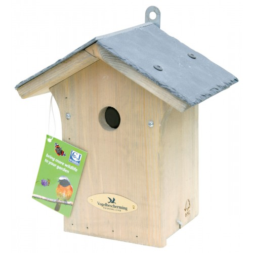 Cj Portland Slate Roof Nest Box 28mm Hole (fsc)