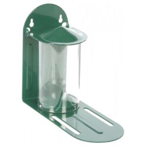 Cj Squirrel Feeder Green Metal