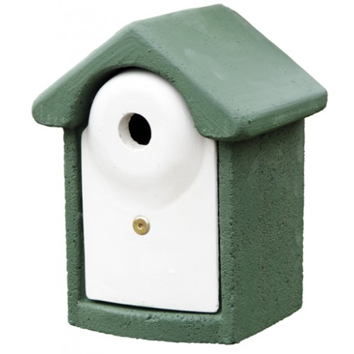 Cj Woodstone Nest Box Green 28mm (fsc)