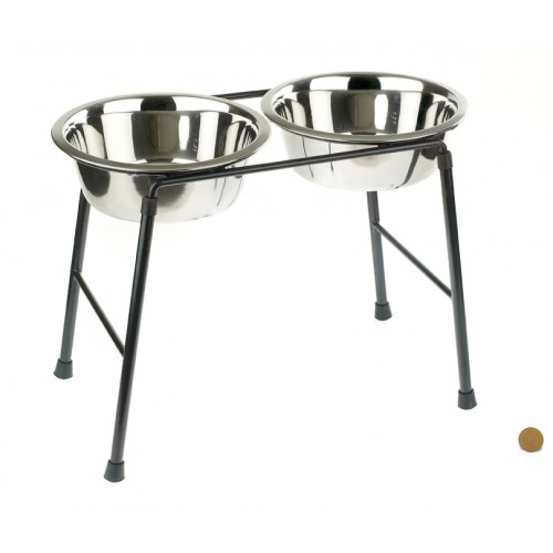 Classic High Stand Feeder & Dishes (2x 1600ml)