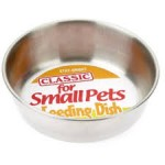 Classic Stainless Steel Small Pet Dish 200ml (80mm Dia)