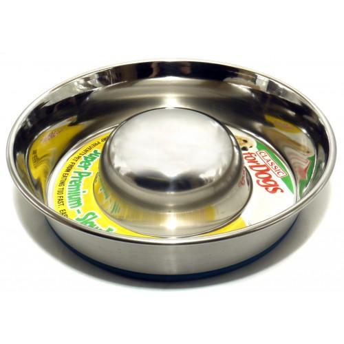 Classic Super Prem S/steel Non Tip Slow Feeder 880ml (195mm Dia)