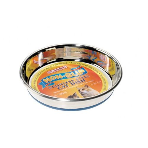 Classic Superdish S/steel Non Slip Cat Dish 250ml (135mm Dia)
