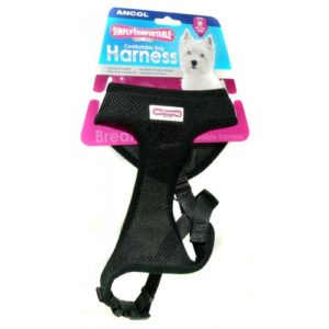 Comfort Mesh Dog Harness Black Extra Small