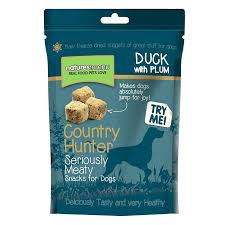 Country Hunter Freeze Dried Dog Treats Duck With Plum 50g X10